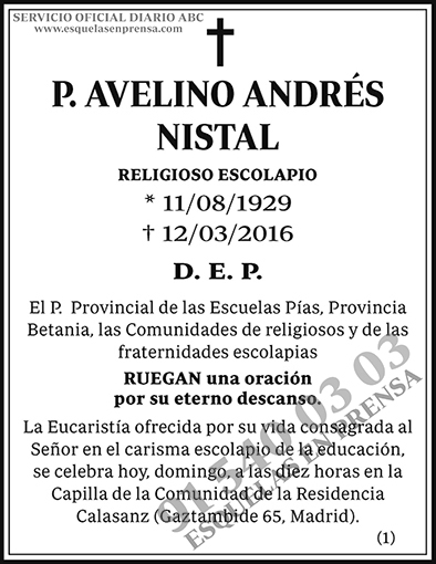 Avelino Andrés Nistal